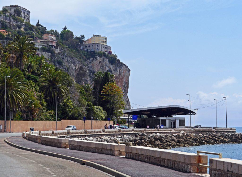 Menton border France Italy